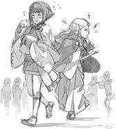 Sketch of Sakura and Hana