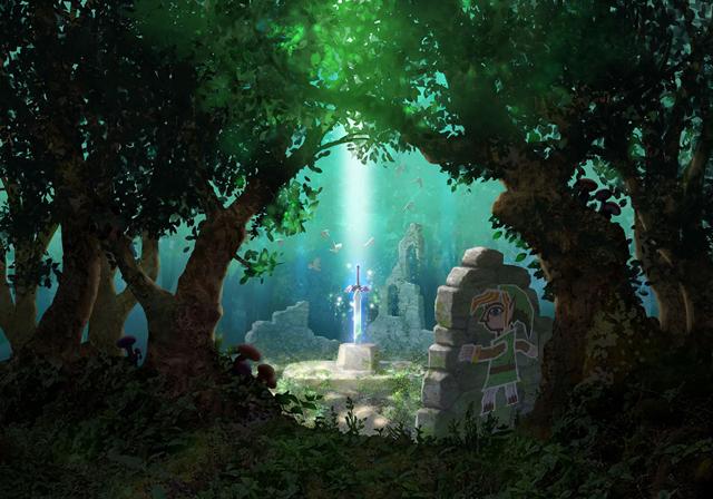 The Legend of Zelda A Link Between Worlds Master Sword