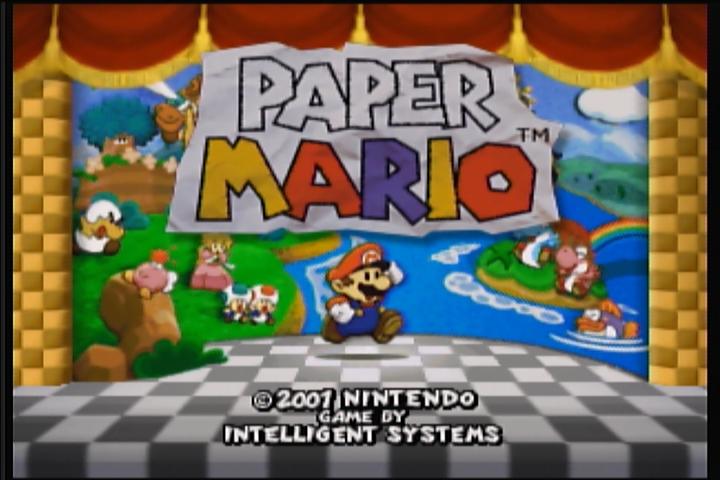 Paper mario nintendo fandom powered by wikia the title screen of paper mario mightylinksfo