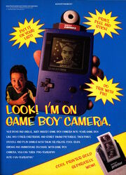 Nickelodeon Magazine November 1998 Game boy Camera Advertisement