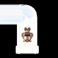Super Mario Maker 2 - Goomba in Clear Pipe