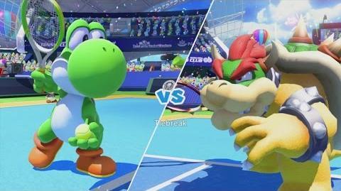 Mario Tennis Ultra Smash Walkthrough Part 10 - Knockout Challenge (Unlocking Star Yoshi)