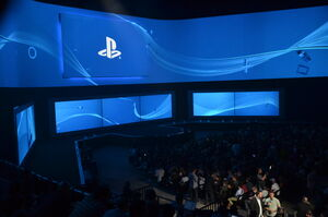 E3 2014 Sony Conference Screen