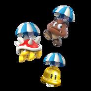 Super Mario Maker 2 - Items with parachutes artwork
