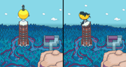 Thunder Tower - Before and After