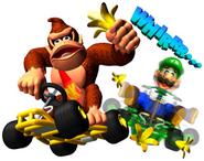 Donkey Kong and Luigi MK64