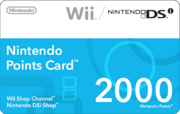 Nintendo Points Card (2000 Points)