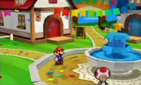 FilePaper Mario 3DS Toad Town