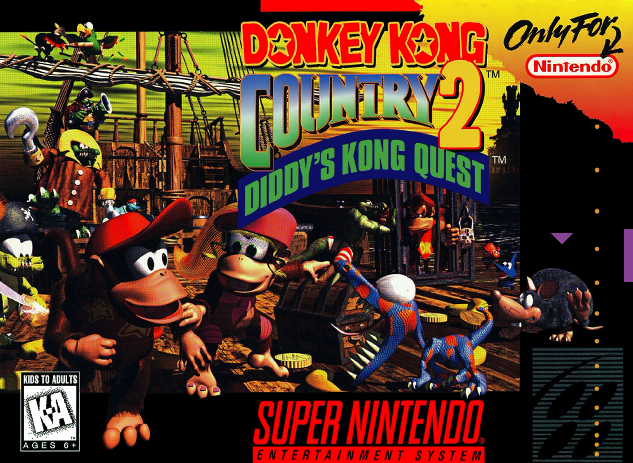 Image result for donkey kong country 2 box art