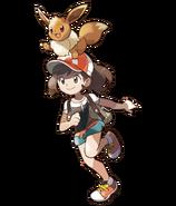 Pokémon Let's Go, Pikachu! and Let's Go, Eevee! - Character Artwork - Female Character & Eevee