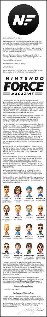 Nintendo Force Magazine (Announcement Infographic)