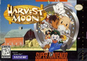 Harvest Moon SNES box front