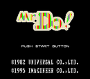 Mr Do title screen