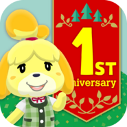 Animal Crossing - Pocket Camp - App Icon - 1st Anniversary