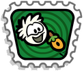 Feed White puffle stamp PNG