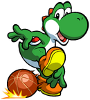 Yoshi Artwork - Mario Hoops 3-on-3