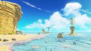 Super Mario Odyssey - Background Artwork - Seaside Kingdom