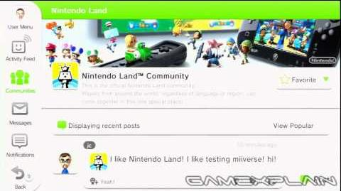 Wii U OS Posting to Miiverse Community