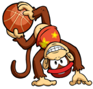 Diddy Kong Artwork - Mario Hoops 3-on-3