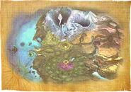 The Legend of Zelda Majora's Mask 3D - Map artwork