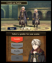 Fire Emblem Awakening (Screenshot - Avatar Creation)