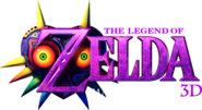 The Legend of Zelda Majora's Mask 3D Logo (Dark background)
