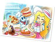 Peach Shy Guy (Pastry Chef) Paris Tour artwork - Mario Kart Tour