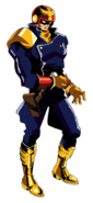 Captain Falcon artwork n F-Zero GP Legend