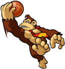 Donkey Kong Artwork - Mario Hoops 3-on-3
