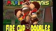 Mario Power Tennis (GCN) - Fire Cup (Doubles) - Donkey Kong and Diddy Kong