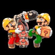 Super Mario Maker 2 - Mario & Luigi artwork 2