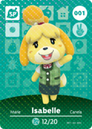 Amiibo - Card - Animal Crossing - Isabelle
