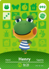 Animal Crossing Amiibo Card 092