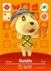 Amiibo - Animal Crossing cards - Goldie (amiibo Festival)