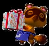 Tom Nook llevando regalo