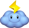 Thunder Cloud Artwork - Mario Kart Wii