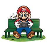 Mario jugando con Nintendo Switch NSMBUD