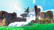 Super Mario Odyssey - Background Artwork - Cascade Kingdom