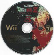 Dragon Ball Z Budokai Tenkaichi 3 disc pg scan