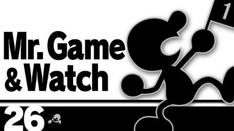 26- Mr. Game & Watch – Super Smash Bros. Ultimate