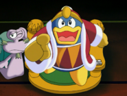 Dedede pointing at the camera