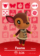 Amiibo - Card - Animal Crossing - Fauna