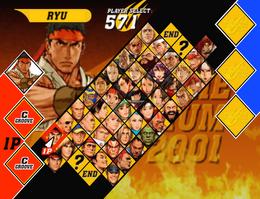 Capcom vs. SNK 2 EO (roster)