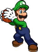 Luigi Artwork - Mario Hoops 3-on-3