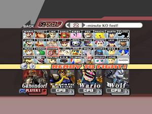 SSBB Select Character