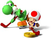 Yoshi Toad hockey