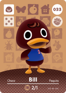 Amiibo - Card - Animal Crossing - Bill