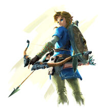 The legend of zelda breath of the wild link artwork