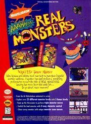 Aaahh Real Monsters impressão de jogos de vídeo SNES Sega NickMag Nov 1995