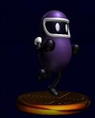 Eggplant Man SSBM Trophy
